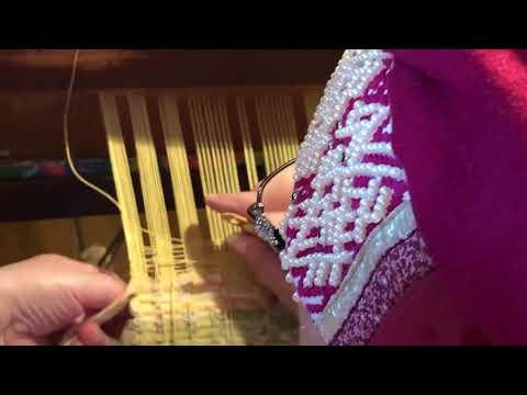 Ажурное витое ткачество вертикальный набор