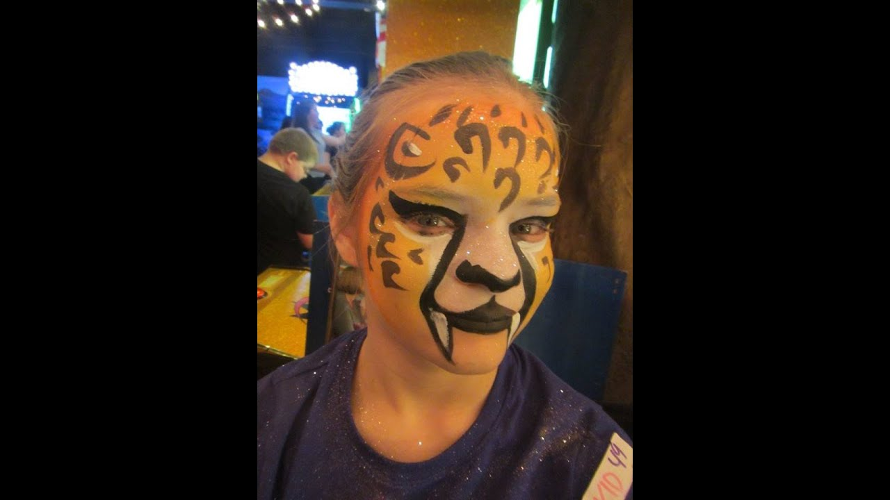 How To Make A Cheetah Face Painting
