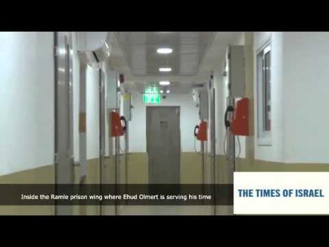 Inside the Ramle prison wing where Ehud Olmert is serving his time