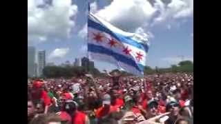 Chelsea Dagger & Sweet Home Chicago played live @ Blackhawks Rally 2013 intro by Jonathan Toews