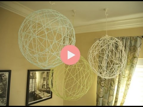 Diy Yarn Chandeliers For Party Decor