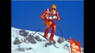 Peter Müller downhill gold (WCH Crans Montana 1987)