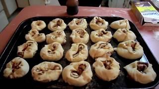 Mom baking her famous German Cinnamon Rolls