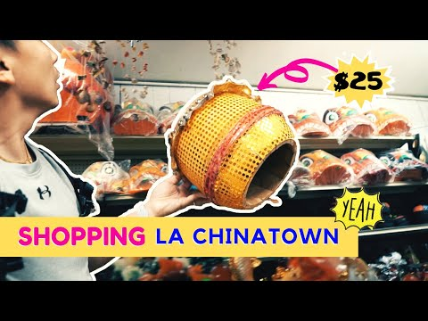SHOPPING LION DANCE COSTUME IN LOS ANGELES CHINATOWN // I Was Bored