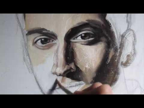 Oil Painting Alex Turner (Arctic Monkeys)