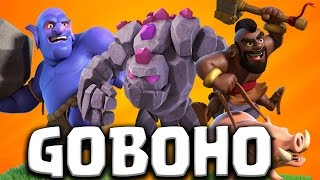AQ WALK TH9 + GOBOHO ATTACK STRATEGY 2017 = RELIABLE 3 STAR FOR CLAN WARS | Clash of Clans