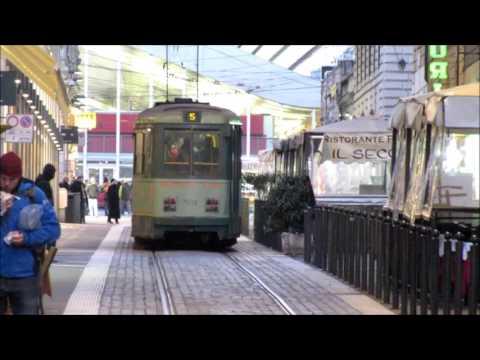 Rome trams at Termini - Straßenbahn Rom - Rete tranviaria di Roma - Villamosok