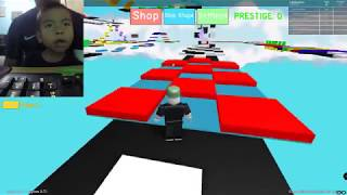 We play Roblox Mega Fun Obby 1st stage on super fast camera