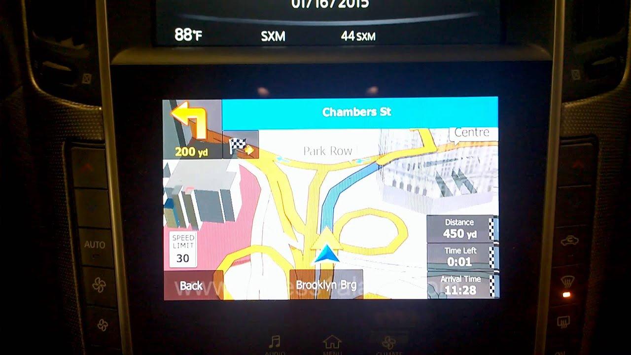 Infiniti Q50 Aftermarket Navigation Demo Youtube