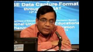 Launching DISE 2013-14: Arun C Mehta, Part II, English, September 13, 2013