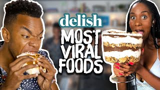 We Ate the MOST VIRAL Internet Foods in the Delish Kitchen! (Cheat Day)