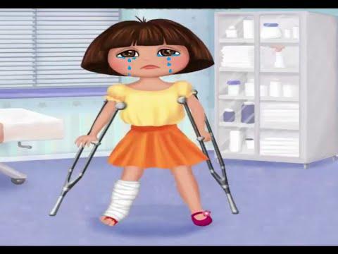 Dora La Exploradora juegos - Dora Médico De Los Pies ᴴᴰ ...