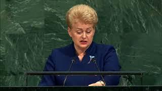 Выступление президента Литвы Дали Грибаускайте на Генассамблее ООН