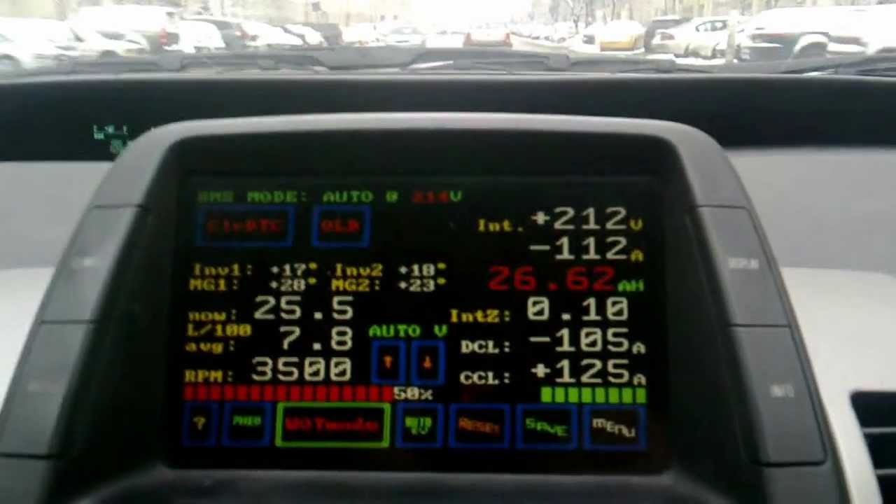 CAN View & BMS+ ECU screen Toyota Prius, Nokia N950 video sample