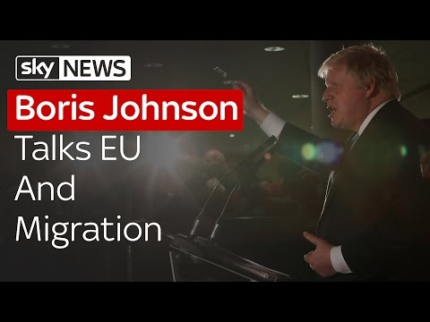 Boris Johnson Talks EU 'Out' Campaign And Immigration Figures