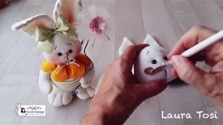Diy how to make a easter bunny tutorial come realizzare un coniglietto in pannolenci