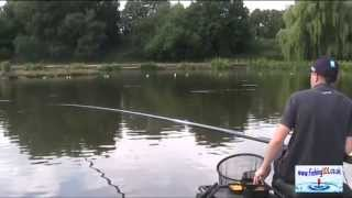 Catching Big Carp Fishing Shallow on the Pole at Gold Valley Lakes