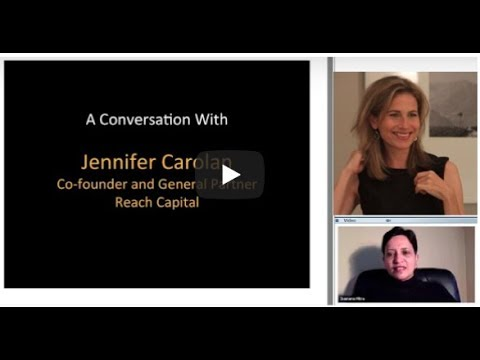 398th 1Mby1M Roundtable May 3, 2018: With Jennifer Carolan, Reach Capital