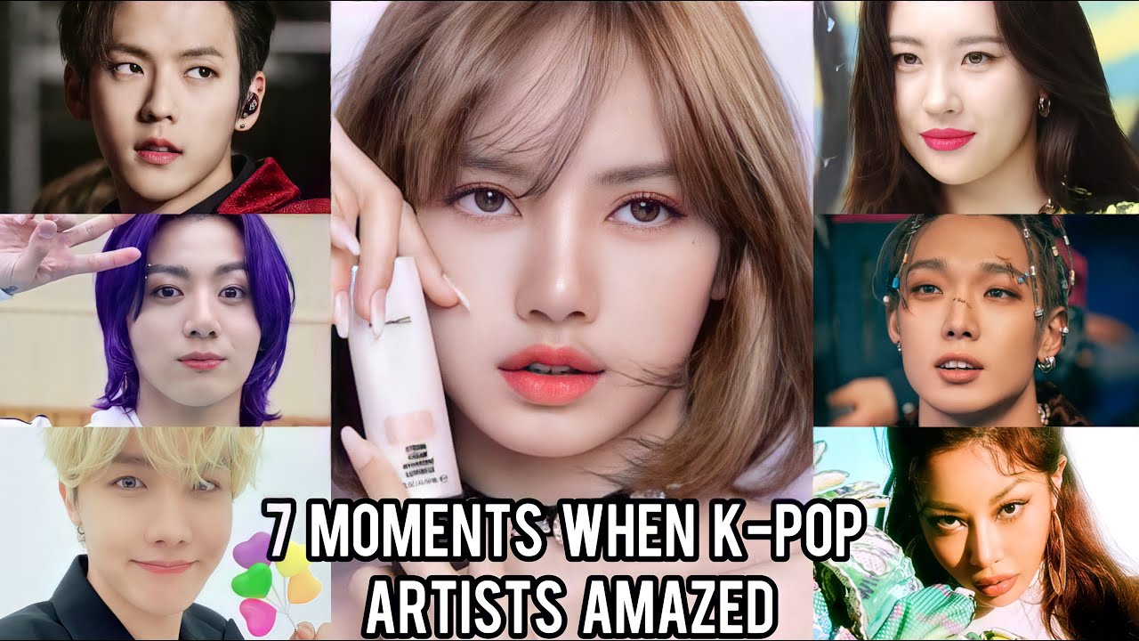 7 MOMENTS WHEN K-POP ARTISTS AMAZED TO SEE BLACKPINK LISA!