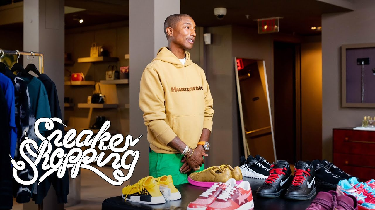 Download Pharrell Goes Sneaker Shopping With Complex