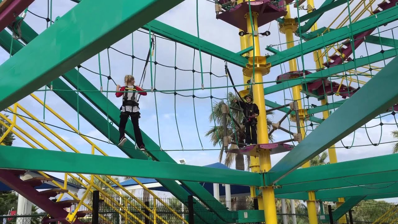 Kids At Moody Gardens Ropes Course Youtube
