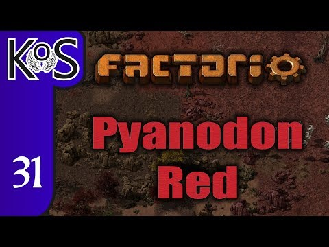 Factorio Pyanodon Red Ep 31: EMBARKING ON BLUE SCIENCE PART 2 - 0.16 - Gameplay, Let's Play
