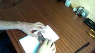 Самодельный конверт для CD и DVD дисков из листа бумаги А4