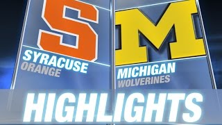 Syracuse vs Michigan | 2014-15 Men