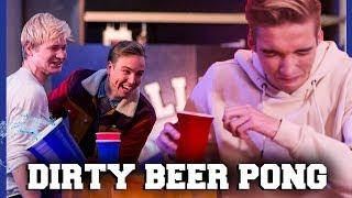 GIO KOKHALST DOOR DIRTY BEER PONG | Kalvijn, Dylan, Gio, Sophie | Challenges Cup #1