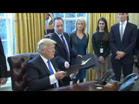 President Trump Signs Executive Orders on Dakota Access and Keystone Pipelines