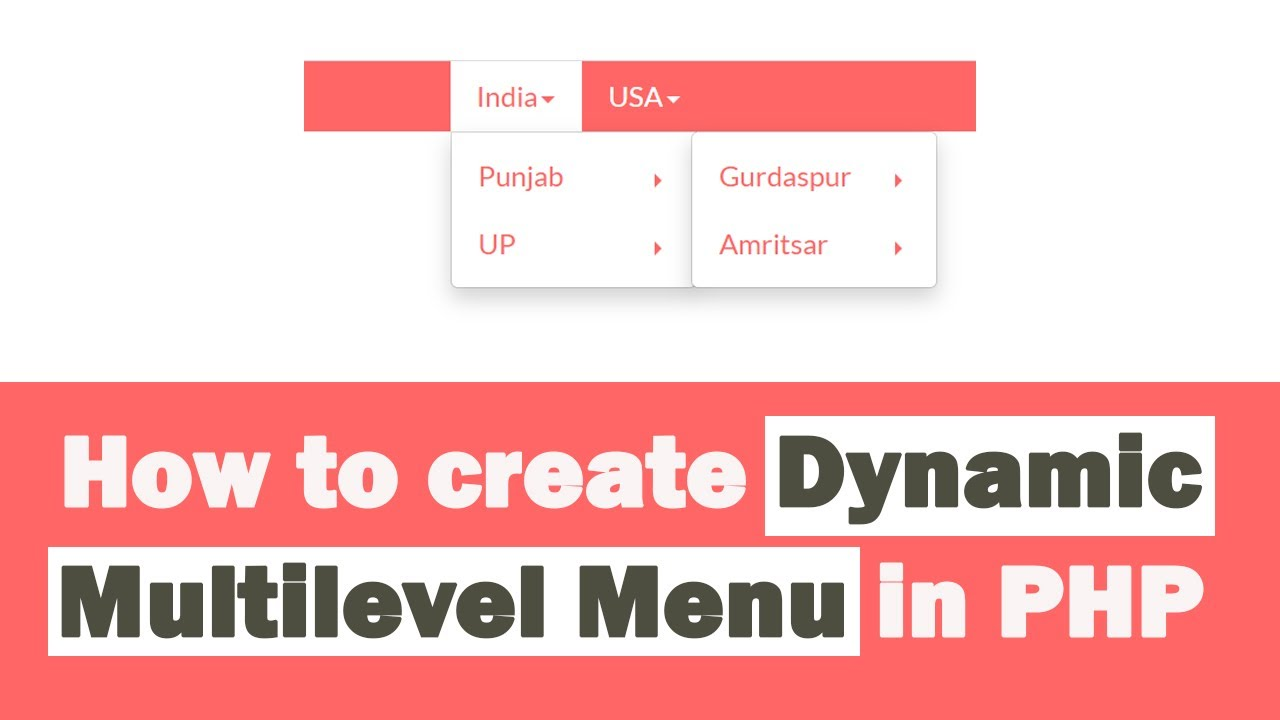 How to Create Dynamic Multilevel Menu in PHP