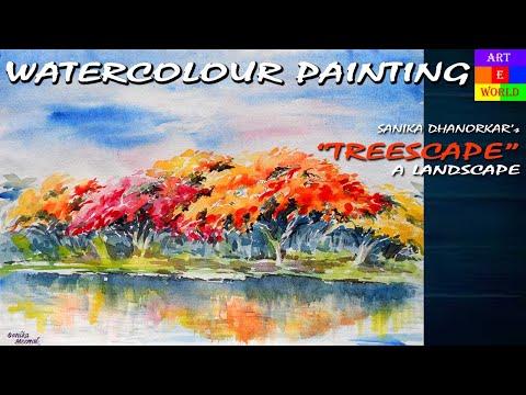 23: Watercolour Landscape-5 | Painting | Tutorial Lessons Video | beginners |  techniques