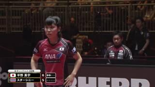 女子シングルス2回戦 平野美宇 vs スターシニー 第3ゲーム