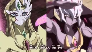 Repeat youtube video Yu-Gi-Oh! ZEXAL II Ending 6 Version 3 (Mizael & Vector) Challenge the Game!