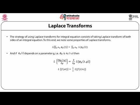 Using Integral transforms for solving integral equations: Laplace