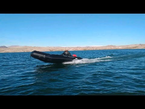 Bris Inflatable 15.4' Dive/Rescue Boat. Come Join The DARK SIDE!
