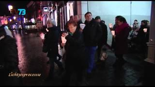 Toespraak op stadhuis en zang van Frank de Bie - Bossche Lichtjesprocessie