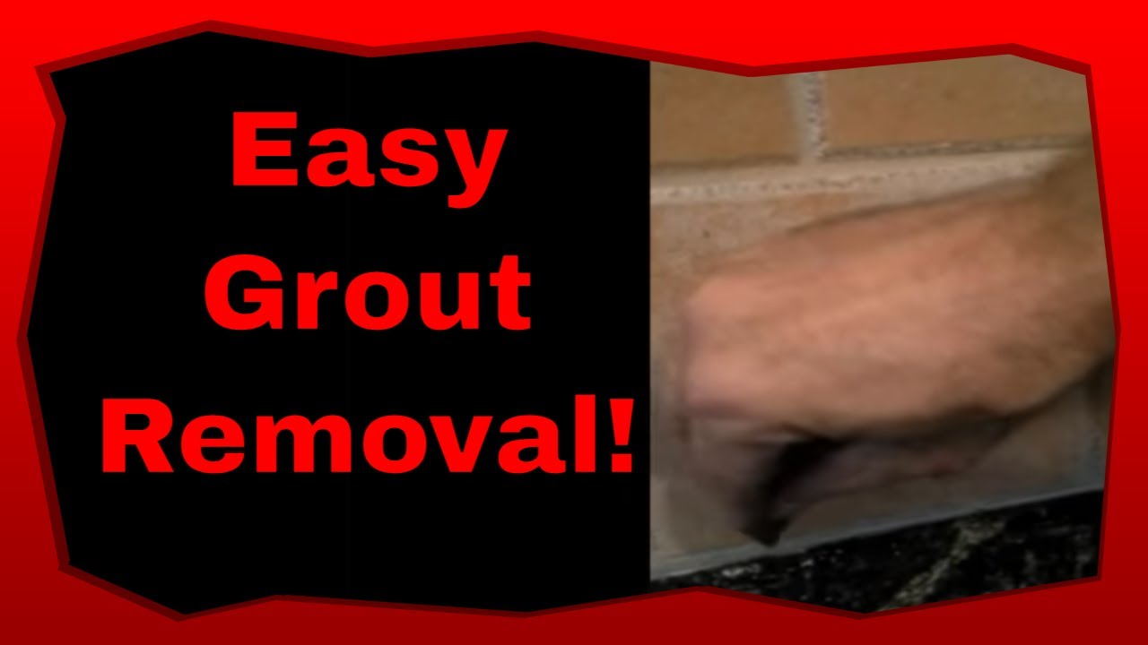 how to remove caulking from grout and tile youtube. Black Bedroom Furniture Sets. Home Design Ideas