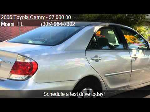 2006 toyota camry le 4dr sedan w manual for sale in miami f youtube. Black Bedroom Furniture Sets. Home Design Ideas