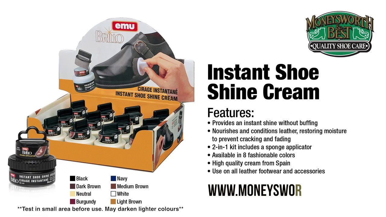 INSTANT SHOE SHINE CREAM - MONEYSWORTH