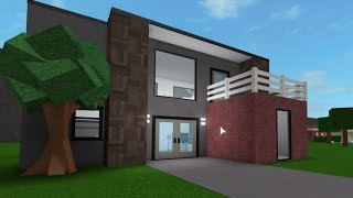 Roblox bloxburg 100 000 house build tutorial one floor for Build a house for under 100k