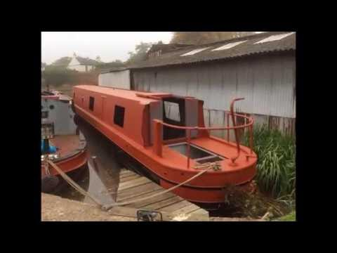 55ft Narrowboat ''La Vagabond'' Build and self fit out 2016