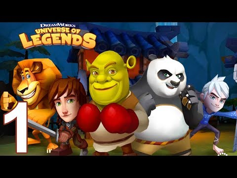 DREAMWORKS UNIVERSE OF LEGENDS Gameplay Part 1 - Rainforest Levels (iOS Android)