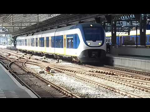 Treinen spotten in Amsterdam  (foto's)