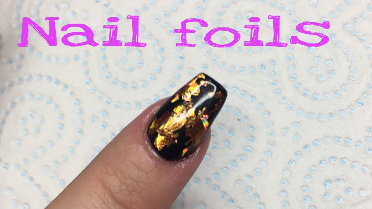 How to apply nail art foils without glue - YouTube