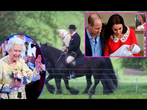 Horse riding at Windsor: The Queen does not welcome her sixth nephew as Kate Middleton gives birth