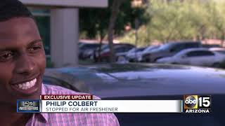 Man speaks to ABC15 after being pulled over for air freshener on his rear view mirror