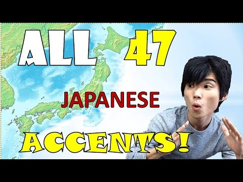 ALL 47 JAPANESE ACCENTS!! 大阪人が全国全ての方言を再現!?