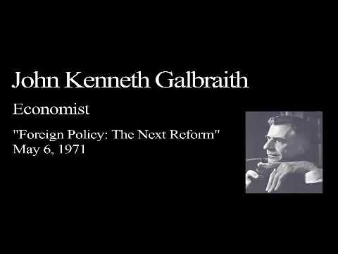 Landon Lecture | John Kenneth Galbraith - audio only