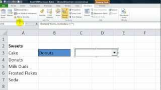 Excel VBA ActiveX Series #4 Combobox - Drop down you can resize and move. Fill with Custom criteria